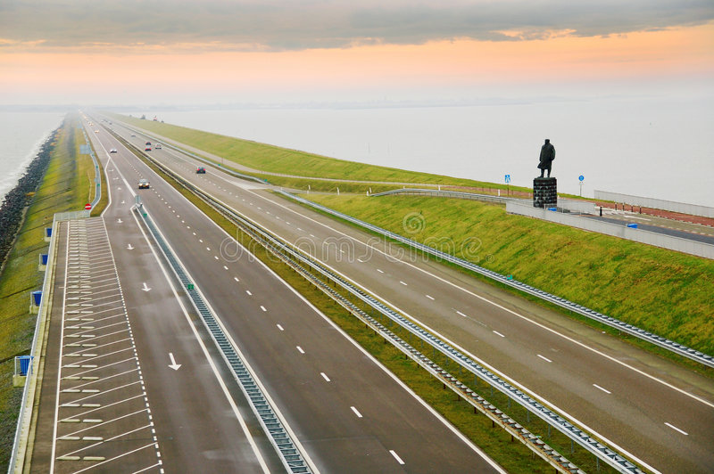 Afsluitdijk, Holland fotos de stock royalty free
