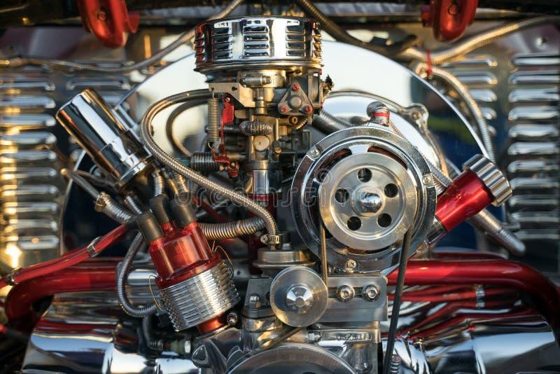 Afsluiting van Volkswagen Beetle Engine royalty-vrije stock foto