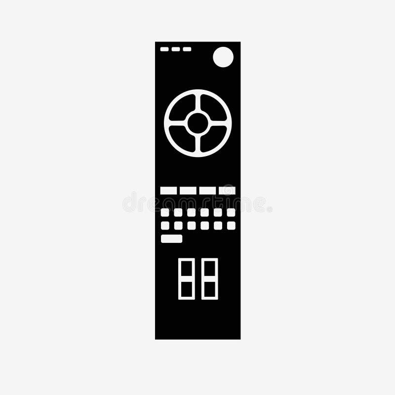 Afstandsbediening - geïsoleerd pictogram stock illustratie