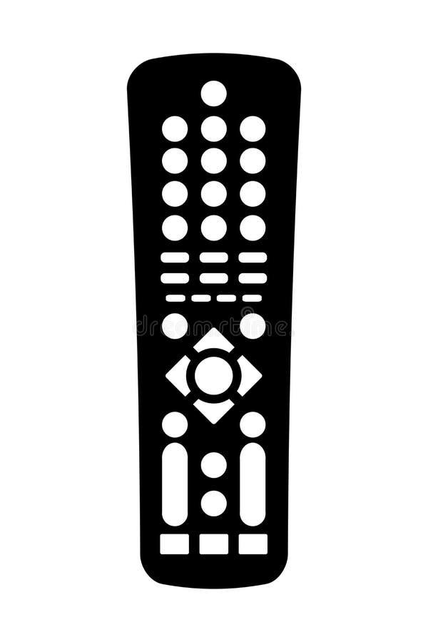 Afstandsbediening - pictogram, op witte achtergrond wordt geïsoleerd die vector illustratie