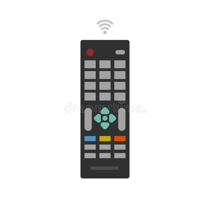 Afstandsbediening van TV-apparaten vectorpictogram stock illustratie