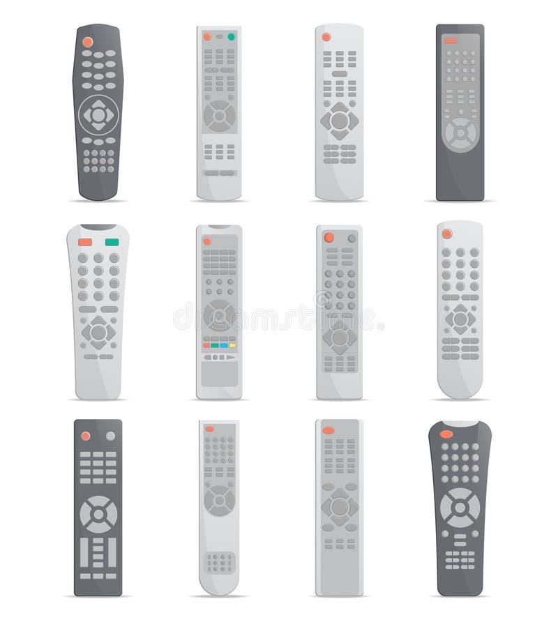 Afstandsbediening voor TV of media centrum wordt geplaatst dat royalty-vrije illustratie