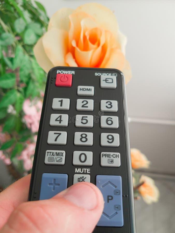 Afstandsbediening voor TV ter beschikking royalty-vrije stock afbeelding