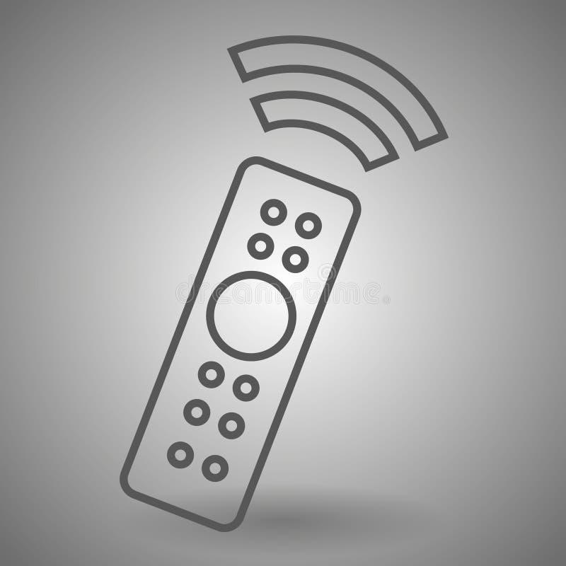 Afstandsbedieningpictogram TV-het teken van omschakelingskanalen Lineair overzichtspictogram vector illustratie