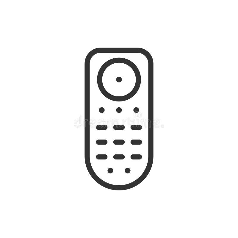 Afstandsbedieningpictogram in vlakke stijl Infrarode controlemechanisme vectorillustratie op wit geïsoleerde achtergrond TV-toets royalty-vrije illustratie