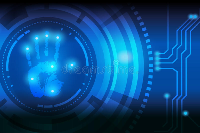 Aftasten handprint technologie royalty-vrije illustratie