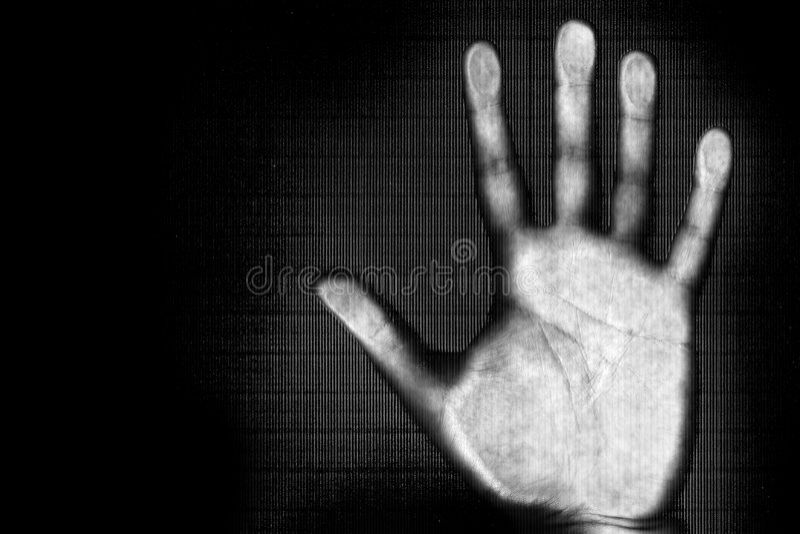Aftasten van menselijke hand royalty-vrije stock foto's