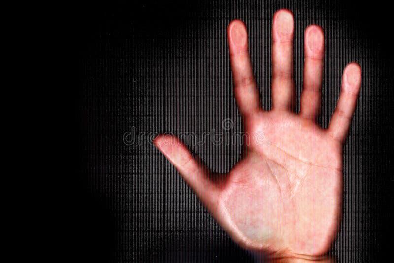 Aftasten van menselijke hand royalty-vrije stock foto