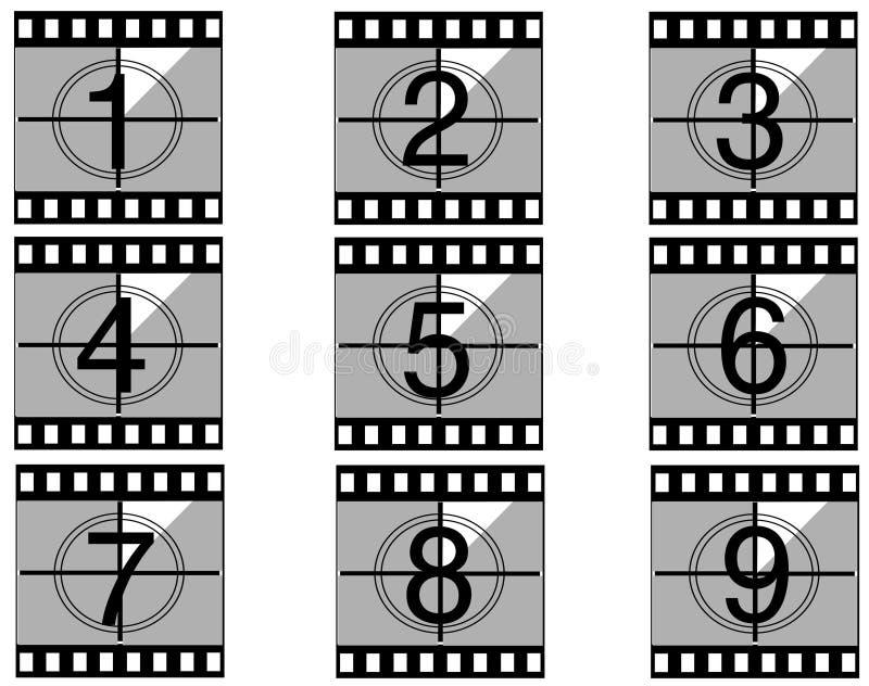 Aftelprocedure 02 van de film stock illustratie