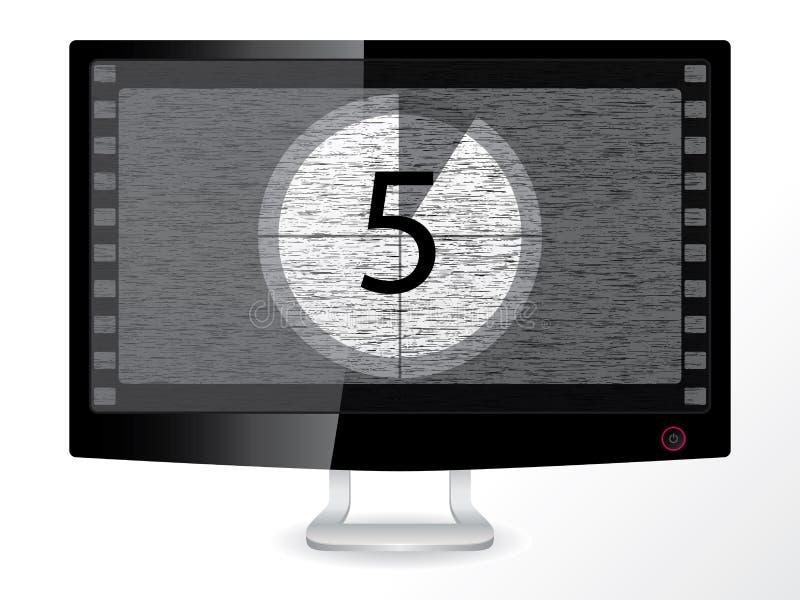 Aftelprocedure in een zwarte monitor stock illustratie