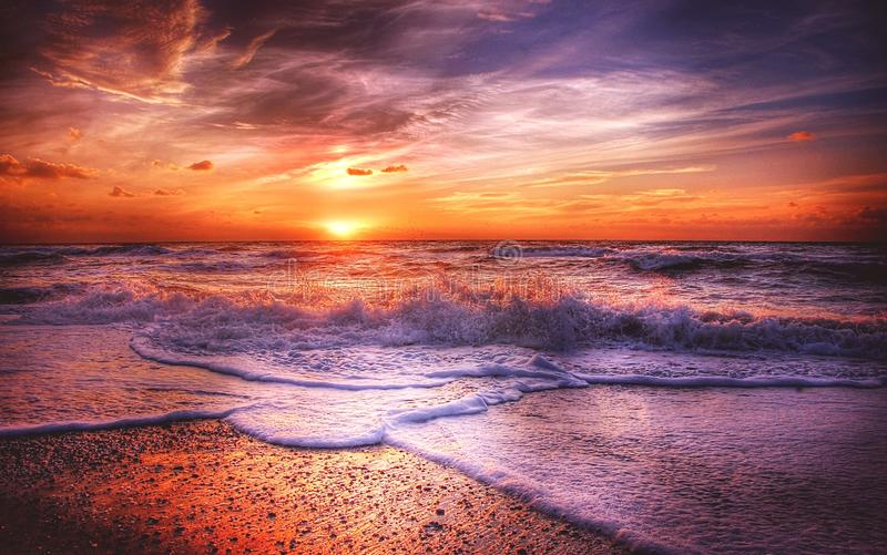 Afterglow, Atmosphere, Atmospheric stock photo