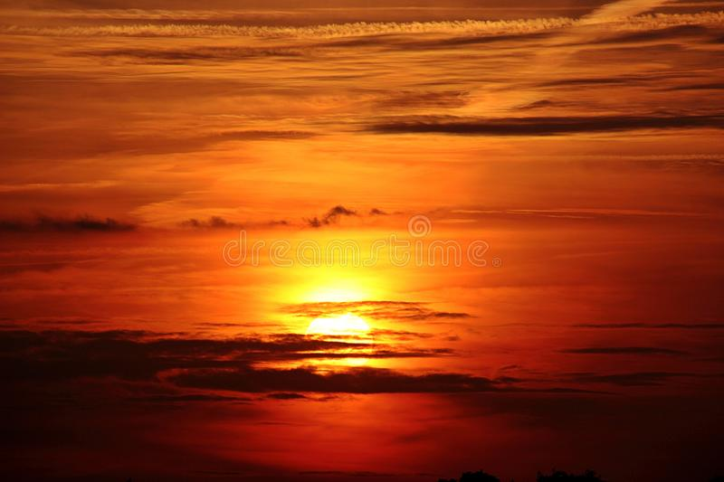 Afterglow, Red Sky At Morning, Sky, Horizon Free Public Domain Cc0 Image