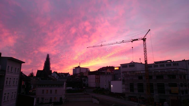Afterglows w LÃ ¼ denscheid fotografia stock