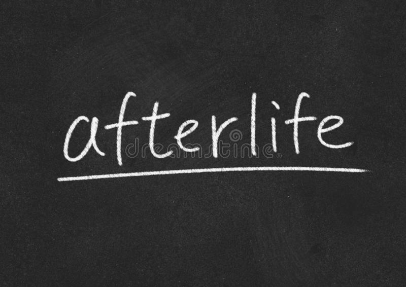 Afterlife. Concept word on blackboard background royalty free stock photography