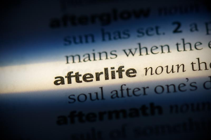 Afterlife. Word in a dictionary.  concept, definition stock photos