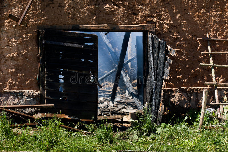 Download Aftermath of the fire stock photo. Image of collapsed - 27425238