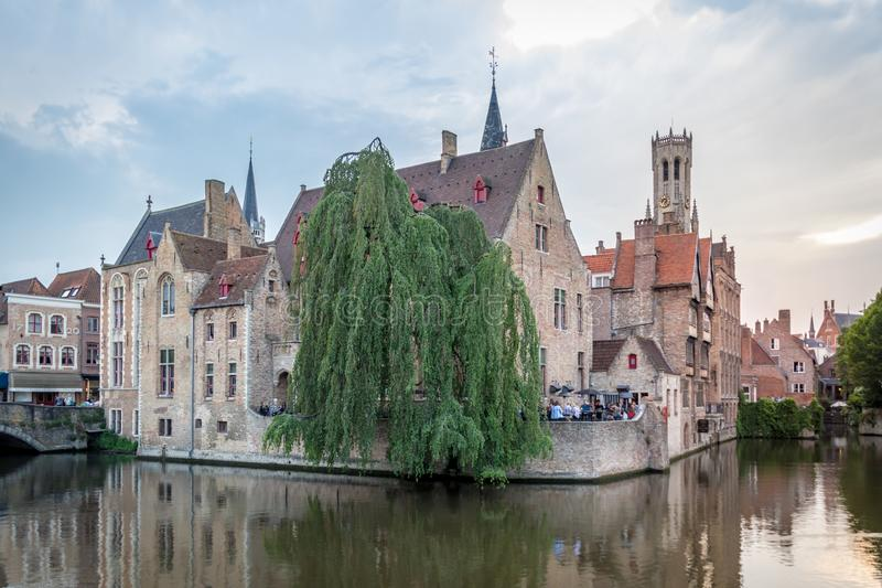Afternoon in Bruges stock images