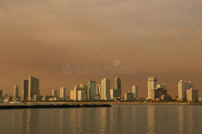 Afternoon-cityscape Stock Photos