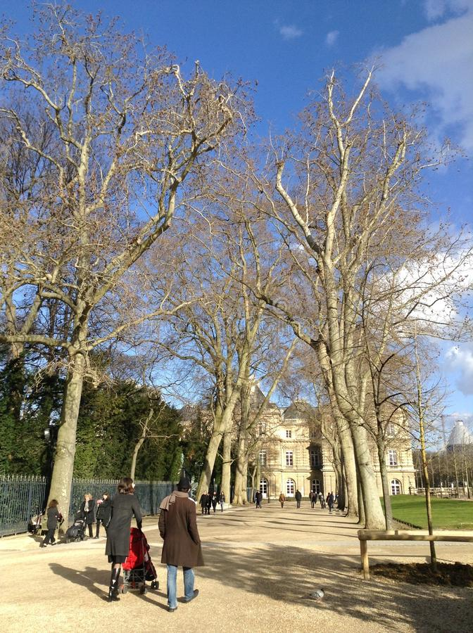 Afternoon at Jardin du Luxembourg stock photo