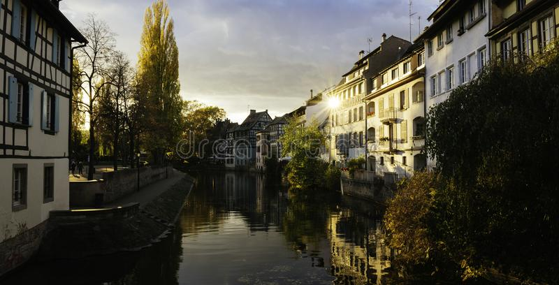 Afternoon light in Strasbourg stock photos