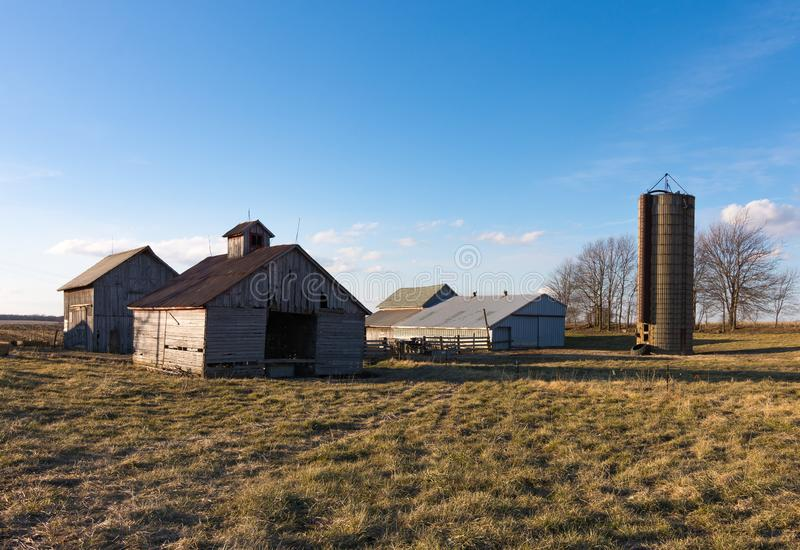 Afternoon in the Midwest. Rural farm in the Midwest. Putnam County, Illinois, USA royalty free stock images