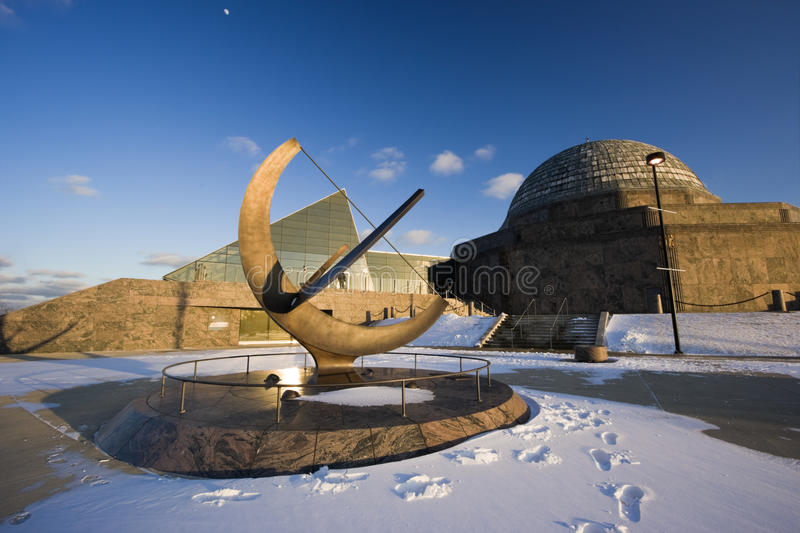 Afternoon by Planetarium. Afternoon by Adler Planetarium in Chicago royalty free stock image