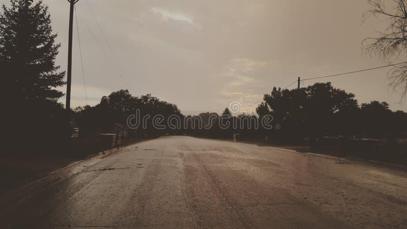 Afternoon rainstorm stock photo