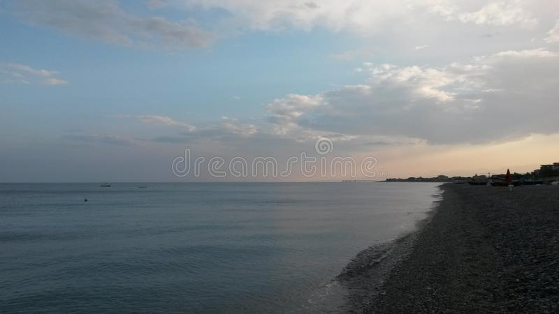 Afternoon sea in Calabria stock photo