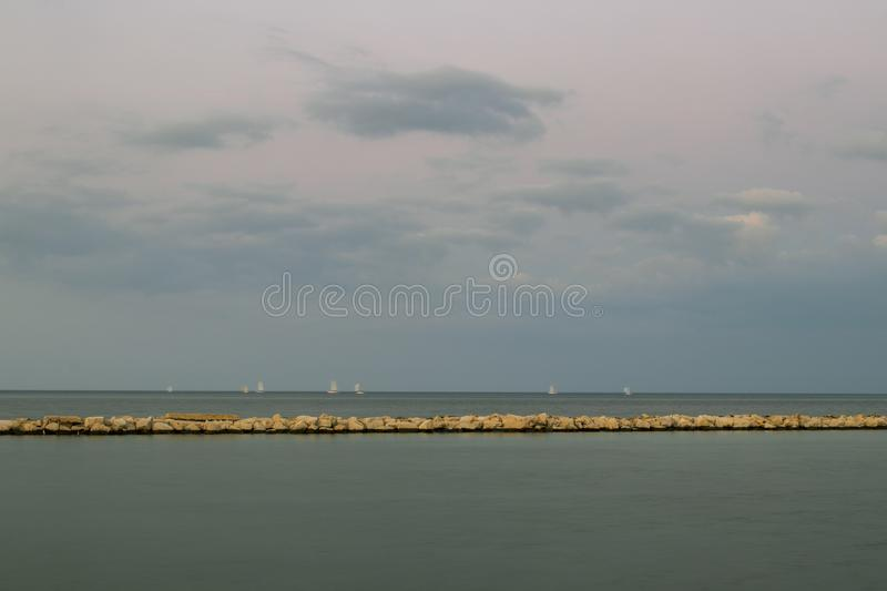 A blue horizon royalty free stock images