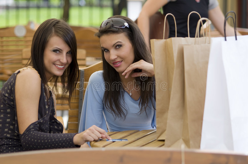 Download Afternoon shopping stock image. Image of euro, hand, credit - 5634109