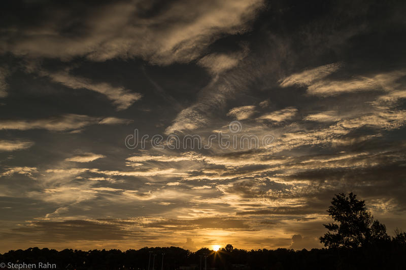 Afternoon Sky in Kennesaw, Georgia stock images