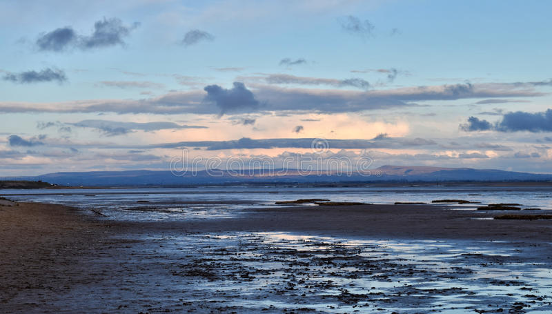 Afternoon sun at Lytham St Anne's royalty free stock photo