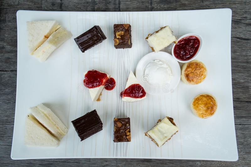 Afternoon tea and dessert royalty free stock photography