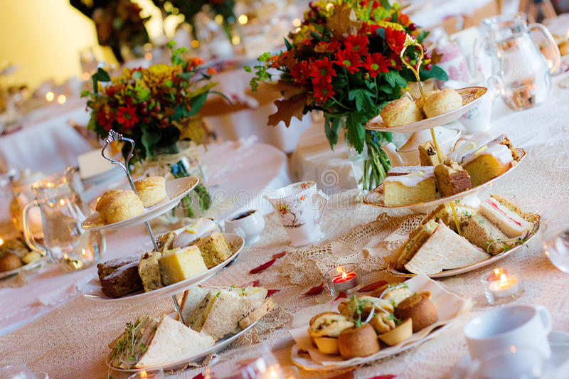 Afternoon Tea Service. Traditional English Luxury royalty free stock photos
