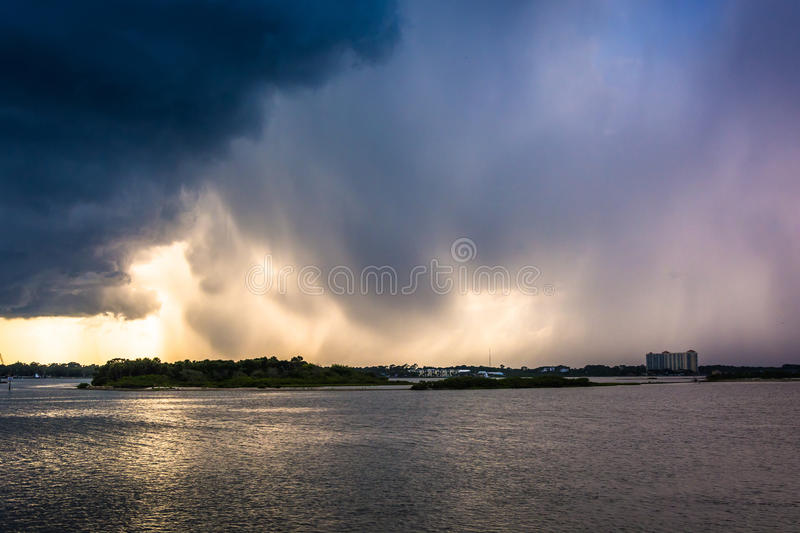 Afternoon thunderstorm over Port Orange, Florida. Afternoon thunderstorm over Port Orange, Florida stock photography