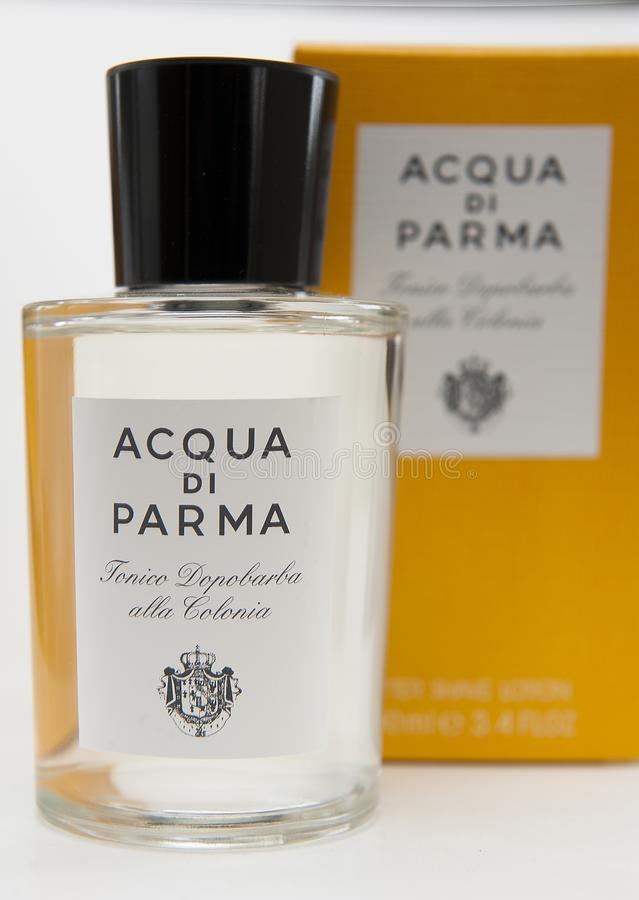 Aftershave cologne acqua di parma royalty free stock photography