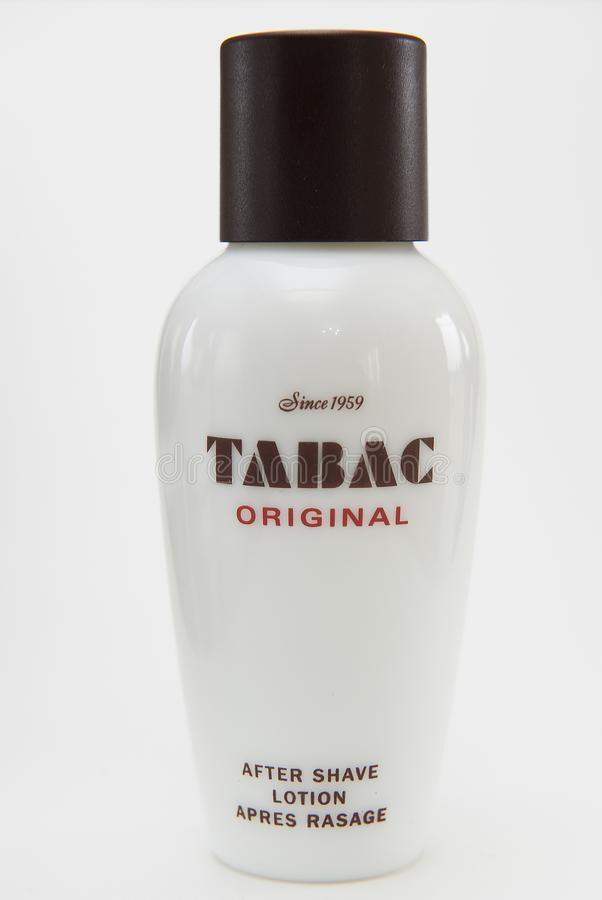 Aftershave lotion tabac stock image