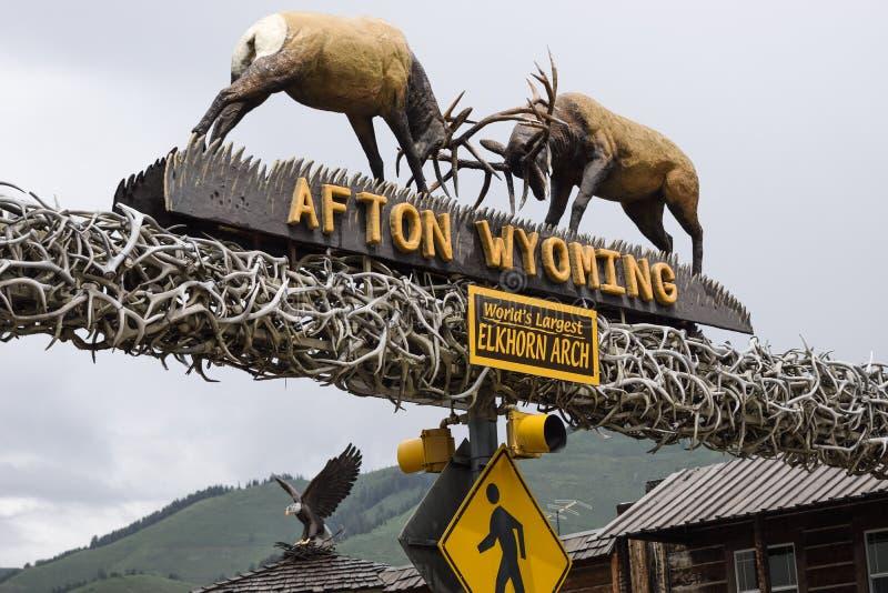 Afton, Вайоминг, свод Elkhorn стоковое изображение
