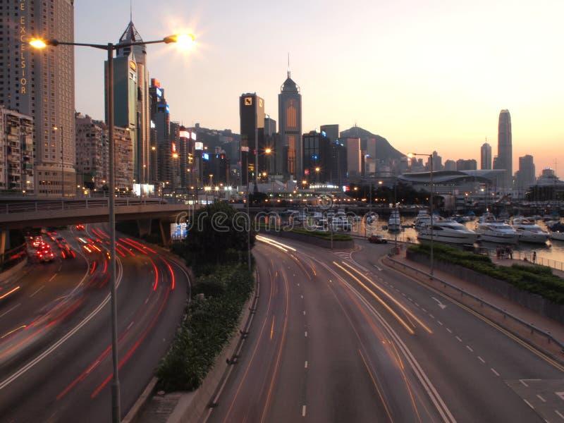 afton Hong Kong arkivfoto