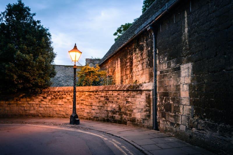 Afton i Oxford arkivfoto