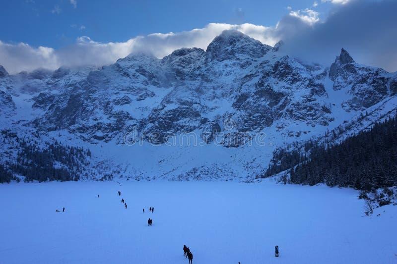 Afton i Tatras royaltyfri bild