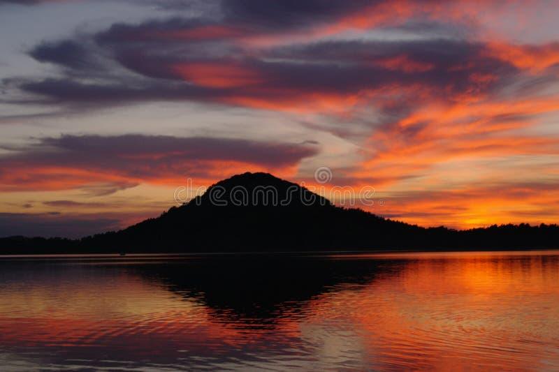 Afton Lake royaltyfri foto