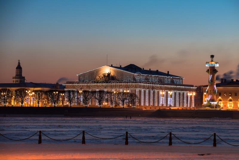 Afton St Petersburg royaltyfri foto