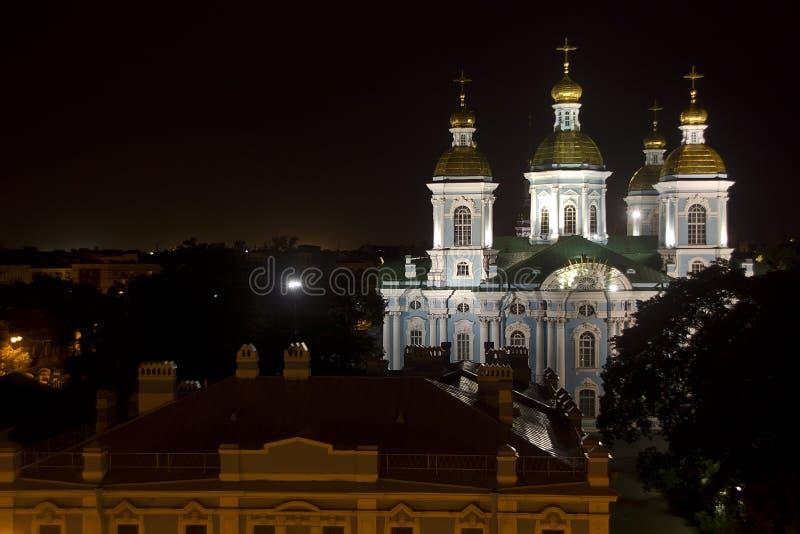 Afton St Petersburg, Ryssland arkivfoton