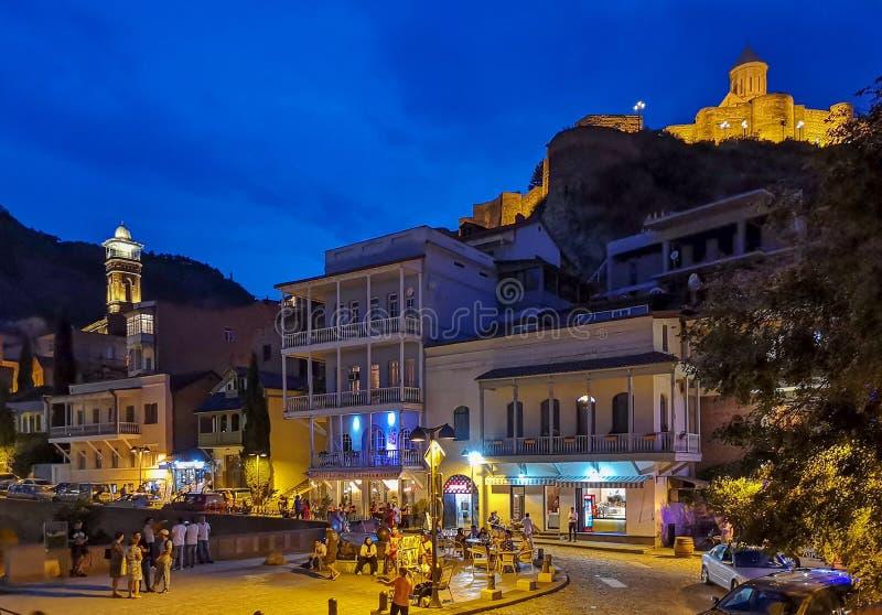 Afton Tbilisi royaltyfri bild