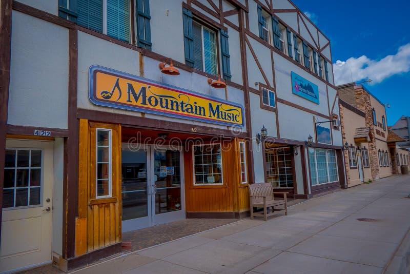 Afton, Wyoming, Etats-Unis - 7 juin 2018 : Vue extérieure de la voûte d'elkhorn de larges du ` s du monde à l'entrée du photographie stock