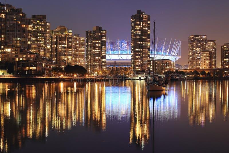 AftonCityScape av Vancouver F. KR. royaltyfria foton