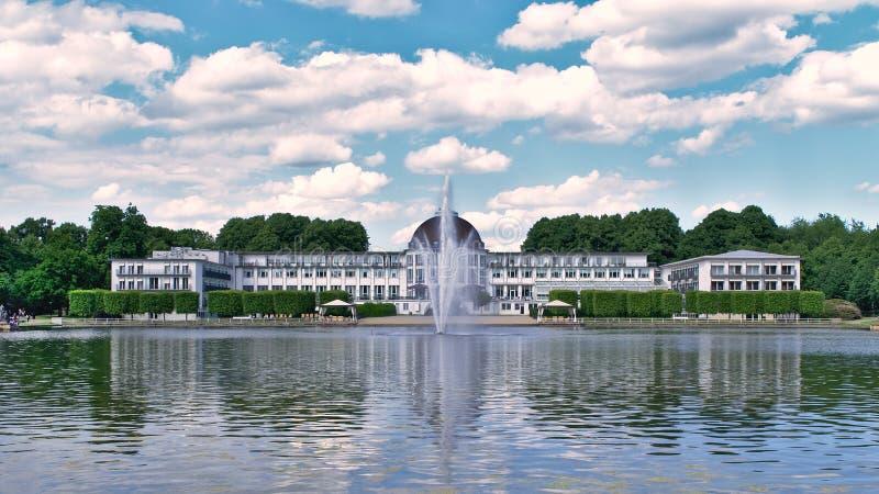 Aftonen på Dorint parkerar hotellet, Bremen arkivbild