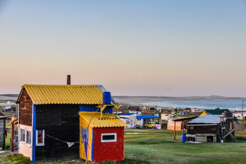 Aftonsikt i Cabo Polonio, Uruguay arkivfoto