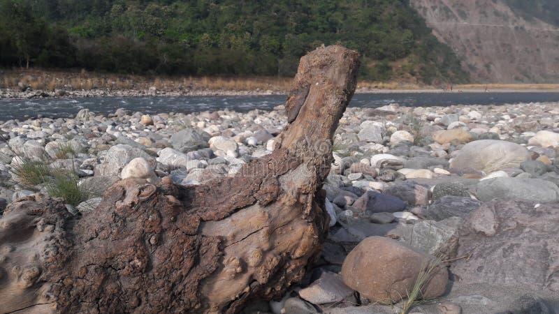 Aftr中午自然秀丽岩石 库存图片